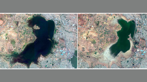 Chennai water crisis: This shocking before and after satellite