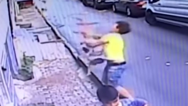 WATCH: Alert teenager catches 2-year-old falling from second floor window in Istanbul