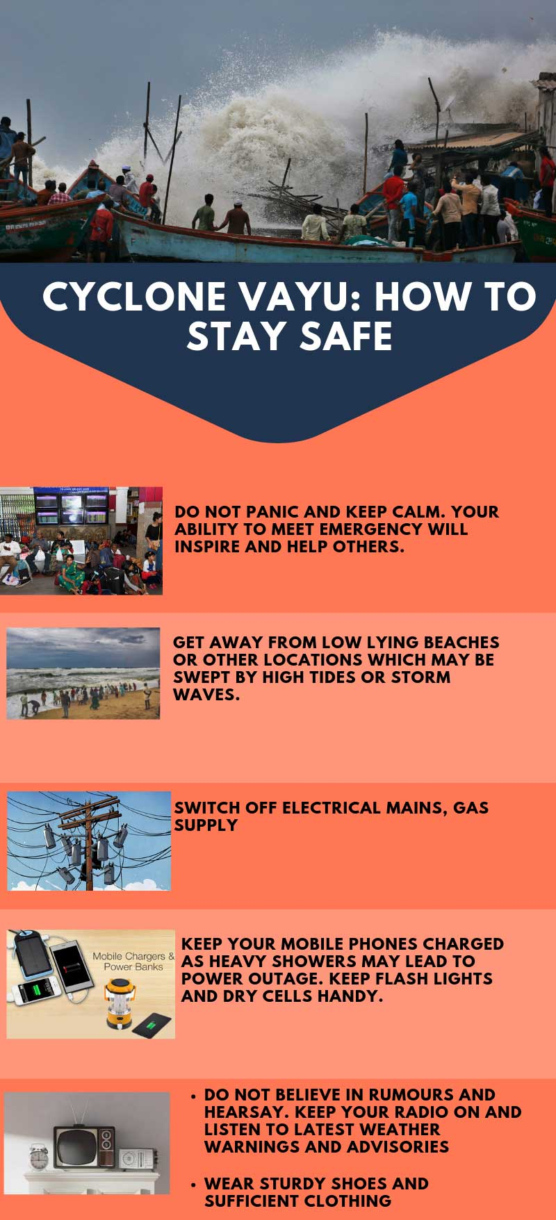 Cyclone Vayu: A list of dos and donts to stay safe