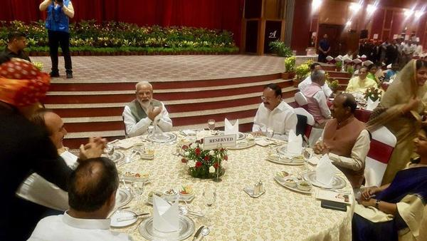 PM hosts dinner for MPs