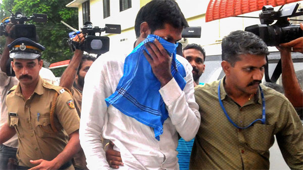 Mohammed Azarudeen,who was arrested by the National Investigation Agency (NIA) in connection with the ISIS Kerala-Tamil Nadu module case in Sri Lankan Easter Day blasts, being produced before NIA special court in Kochi