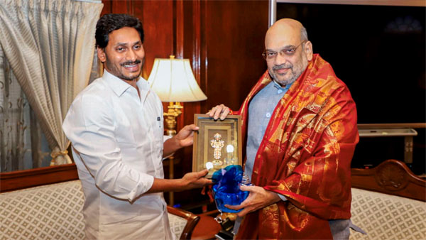 Andhra Pradesh Chief Minister YS Jaganmohan Reddy meets Home Minister Amit Shah, in New Delhi