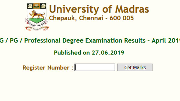 Direct links to check Madras University 2019 result: Find instant exam date here