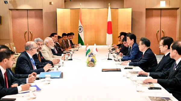 PM in Osaka: Modi meets Japanese counterpart Abe, discusses topics of mutual interest