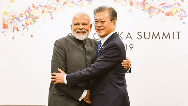 Prime Minister Narendra Modi and South Korean President Moon Jae-in