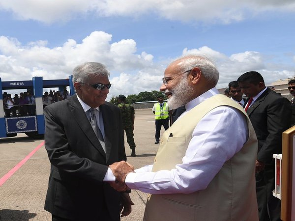 Modi arrives in Sri Lanka