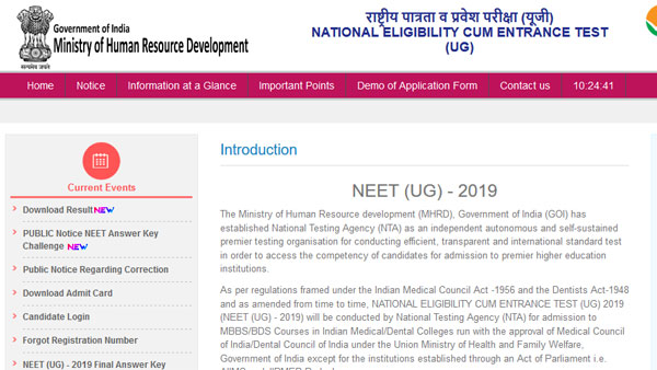 NEET Round One Counselling result 2019 not valid anymore: Check details