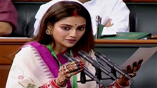 Trinamool Congress MP Nusrat Jahan
