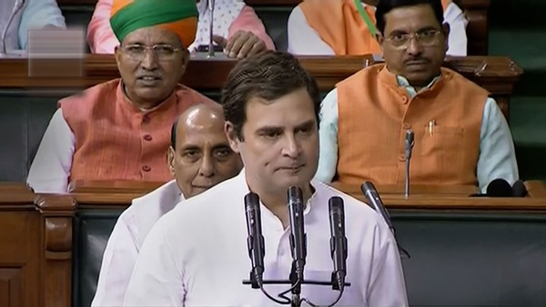 Congress President and MP from Wayanad Rahul Gandhi takes oath as a member of the 17th Lok Sabha