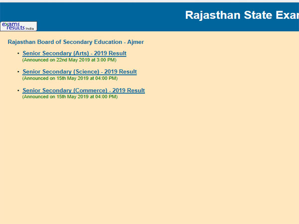 RBSE 10th Result 2019 date confirmed