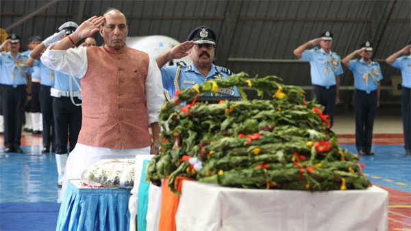 Rajnath Singh pays tribute to air warriors killed in AN-32 Crash