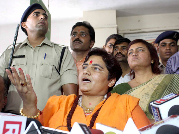 File photo of Sadhvi Pragya Singh Thakur