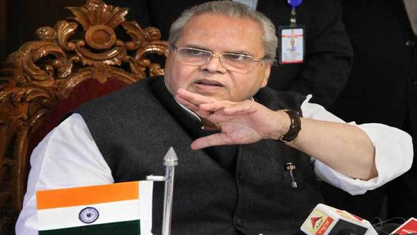 File photo of Jammu and Kashmir Governor Satya Pal Malik