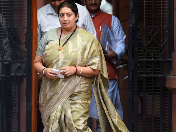 File photo of Union Minister Smriti Irani