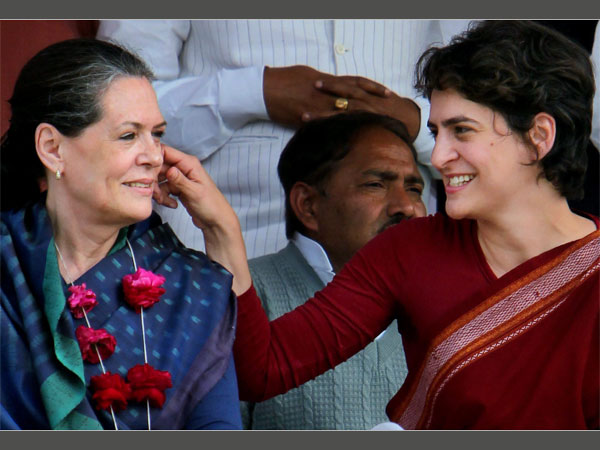 File photo of Sonia Gandhi and Priyanka Gandhi