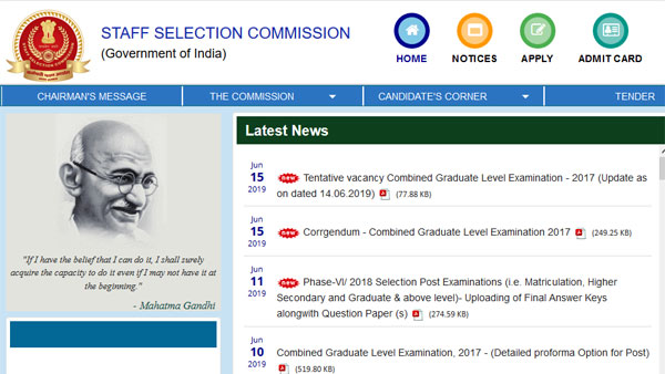 SSC MTS Admit Card 2019 date, how to download