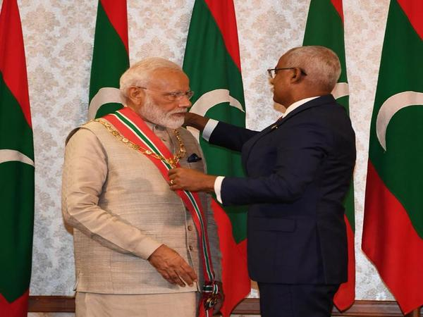 Modi conferred with Maldives highest honour