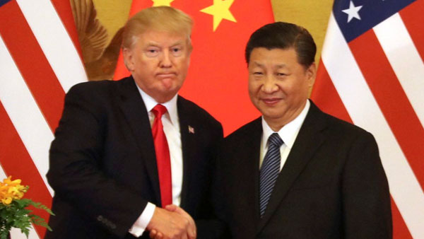 File photo of Donald Trump and Xi Jinping