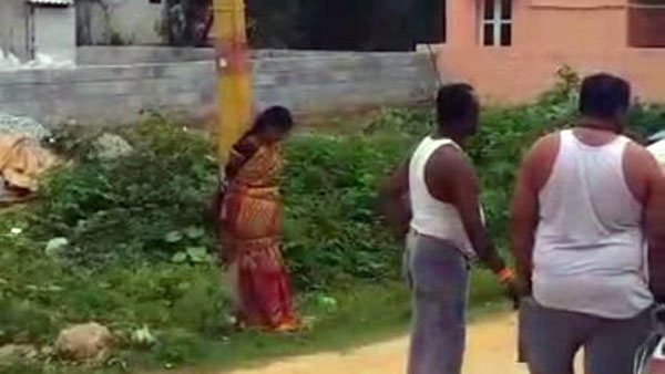 Watch: Woman tied to pole, thrashed by villagers for not returning loan