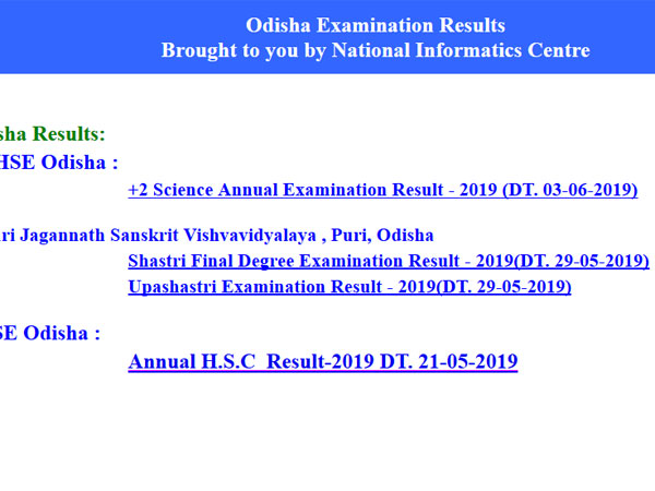 CHSE Odisha Plus 2 Arts, Commerce Result 2019 expected on this date, how to check