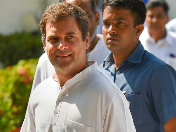 Rahul arrives in Wayanad, greeted him with