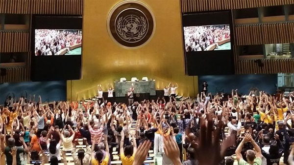 Chants of 'Om' at the United Nations