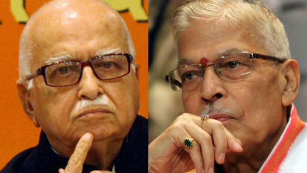 File photo of LK Advani and Murli Manohar Joshi
