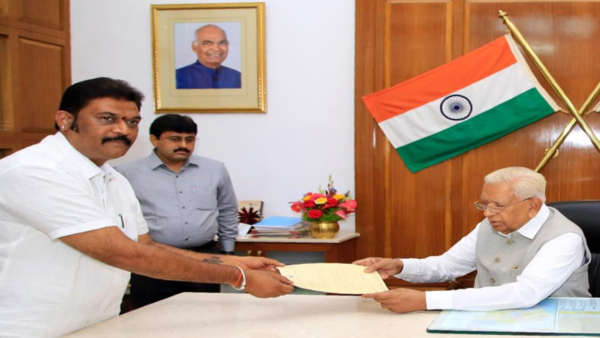 Congress Anand Singh submitted his resignation to the Governor from his assembly membership