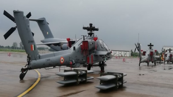 AH-64E Apaches arrived at the Indian Air Forces Hindon Airbase in Ghaziabad today
