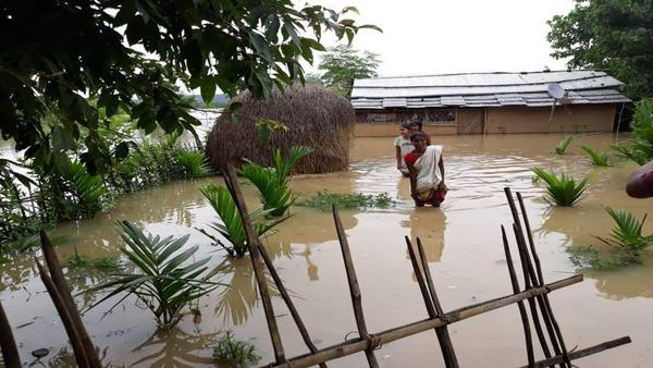 Thousands of villages inundated