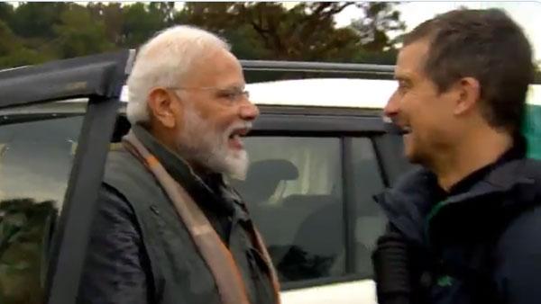 PM Modi to feature on Bear Grylls' Man Vs Wild on Aug 12
