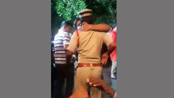 Drunk man forcibly kisses cop during Bonalu Celebrations, gets slapped in return