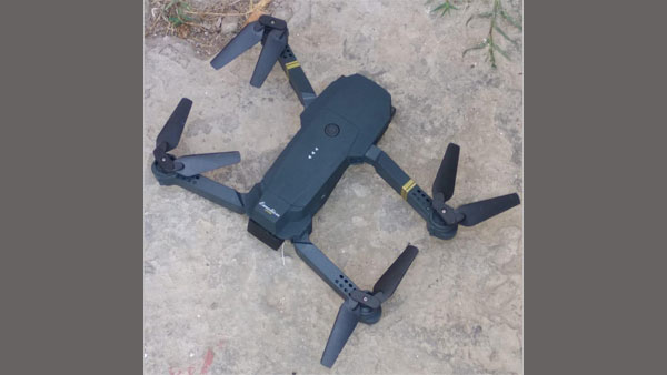 The drone that crashed outside the Kishtwar jail