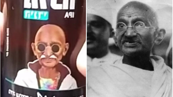Mahatma Gandhis photo on beer bottles; Israeli Brewery company apologies