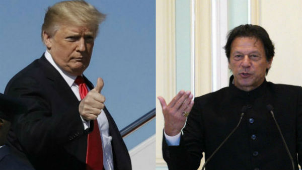 File photo of Donald Trump and Imran Khan