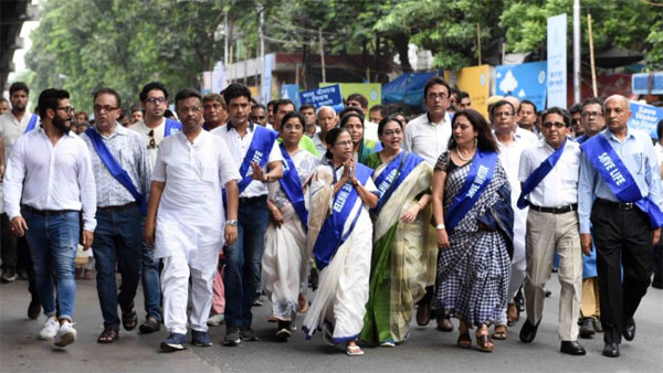 CM Mamata's Padayatra to spread Save Water awareness in Kolkata