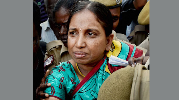 File photo of Nalini Sriharan, who is serving life imprisonment in connection with the Rajiv Gandhi assassination case