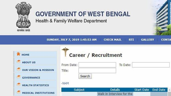 Nurse Jobs: 8 staff nurse vacancies announced by West Bengal Health Department; Steps to apply