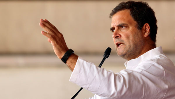 In first Lok Sabha speech, Rahul takes up farmers plight, Rajnath Singh counters