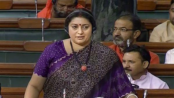 Women and Child Development Minister Smriti Irani