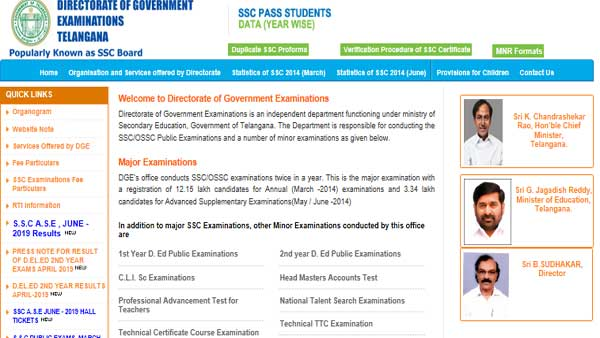 TS SSC Supplementary Result 2019 declared, direct link to check