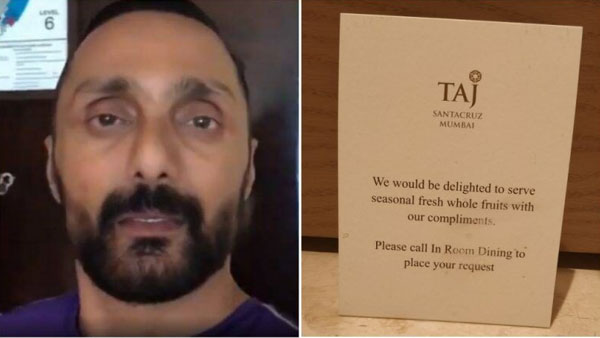 After Rahul Boses banana bill, Twitter hails Taj Hotels for offering free fruits to guests