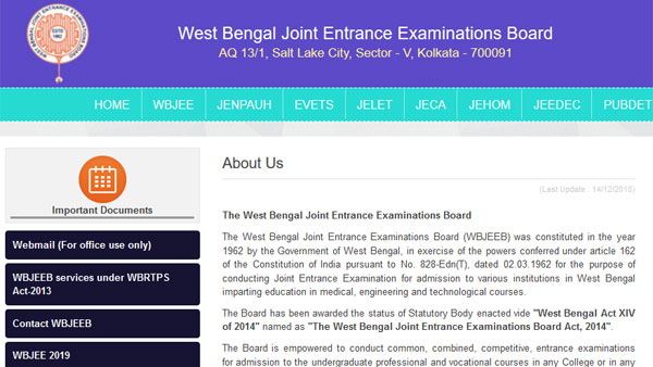 WBJEE seat allotment result 2019: Dates for second, third round allotment and document verification