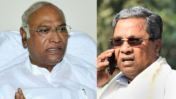 File photo of Mallikarjun Kharge and Siddaramaiah