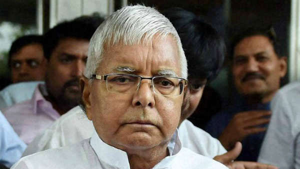 Jailed RJD chief Lalu Prasad