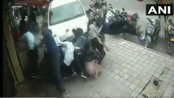 Watch horrific video of a car ploughing into pedestrians in Bengalurus HSR layout