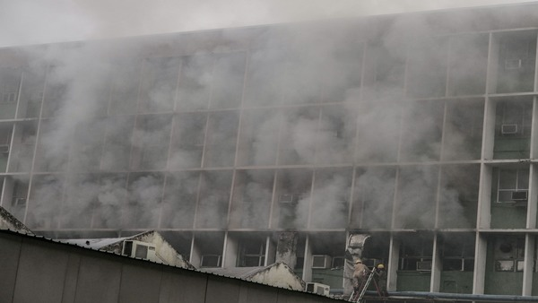 Massive fire breaks out at AIIMS' Microbiology dept