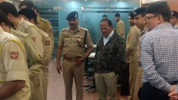 A bara khana and interaction police personnel: NSA Doval has another hectic day in J&K
