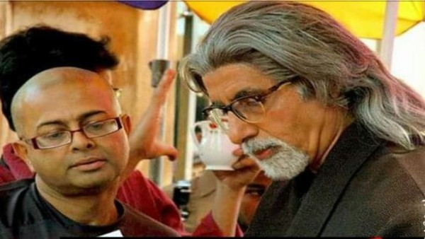 Late Rituparno Ghosh with Amitabh Bachchan during the shooting of The Last Lear