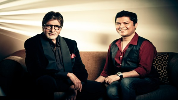 Bollywood legendary actor Amitabh Bachchan with filmmaker Ram Kamal Mukherjee